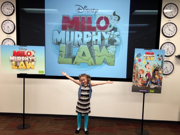 "Lindalee at the Press Junket for ""Milo Murphy's Law"""