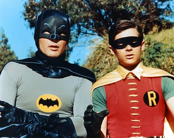 Adam West (Batman) and Burt Ward (Robin)