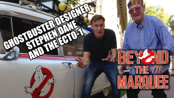 Jon Donahue and Ghostbusters Ecto-1 creator Stephen Dane on the SONY Studios lot