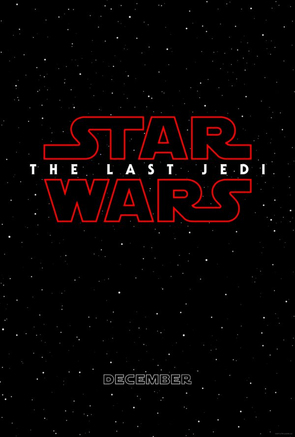 The one sheet teaser poster for THE LAST JEDI