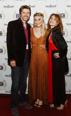 Photographed: Owen Dara (producer/writer/director/composer), Virginia Williams (soundtrack vocalist), Jessica Lancaster (producer/actress) Photo Credit: Jenny Rolapp